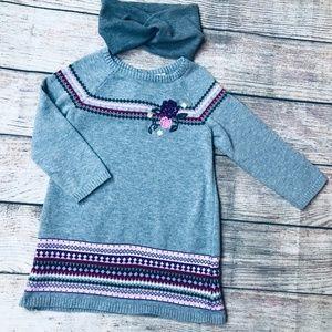 Children's Place sz 24m LS grey sweater dress